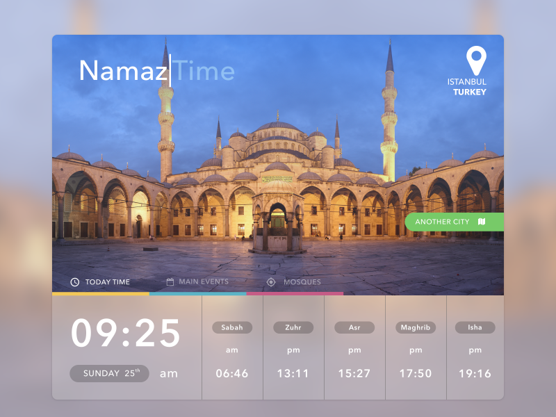 Namaz Time by Ilnar on Dribbble
