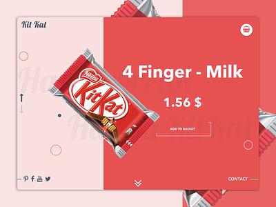 Kit Kat web web design ui landing page sweet dashboard invite website clean flat app interface