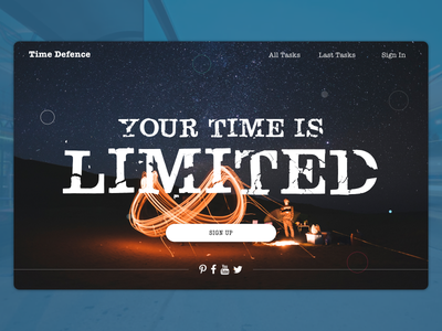 Time is LIMITED interface app flat clean website invite dashboard time landing page ui web design web