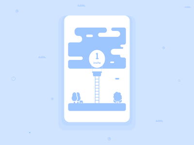 Finished Invitation forest ticket invite giveaway dribbble dribbble invites clean app design illustration invite