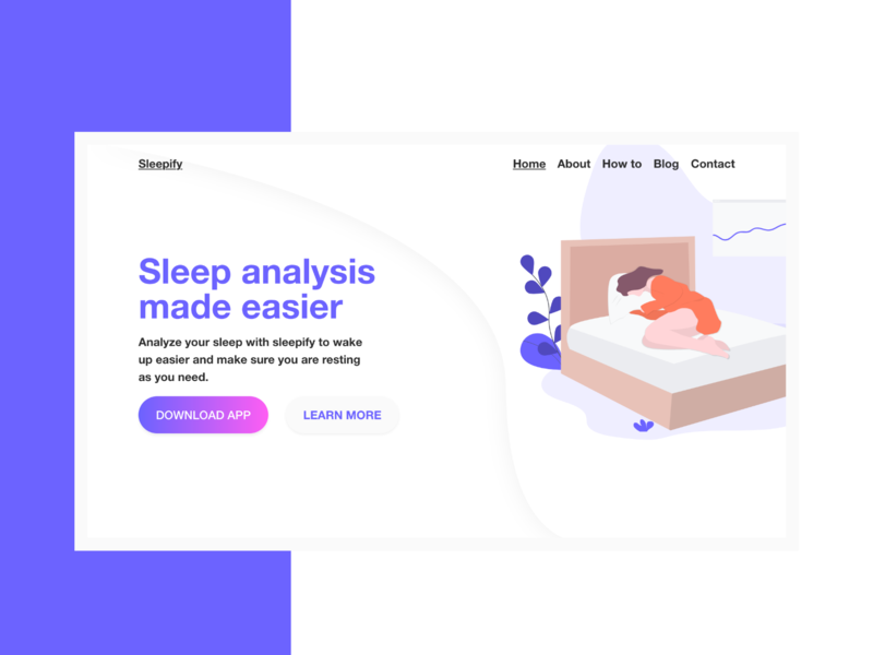 App Landing page | Web Design | Illustration | Gradient