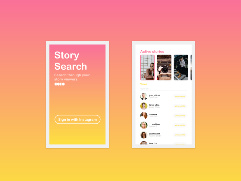 Search Insta Story Viewers App