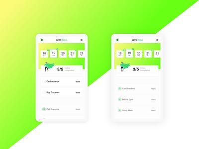 TODO iPhone App | Gradient | Bright | Simple App modern bright gradient app design ui minimal app branding app