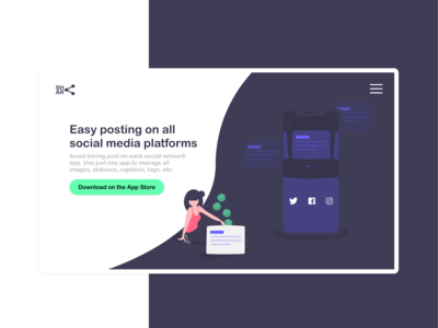 Landing Page for Sharing Posts on All Social Networks