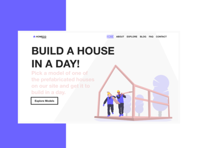 Landing Page for a Construction Company | Brutalism