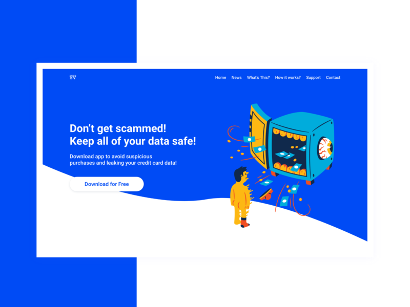 Landing Page for Data Safety App