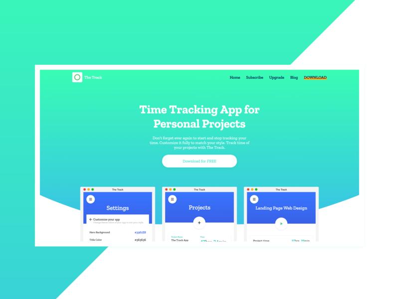 Web Design for The Track App