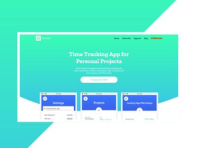 Web Design for The Track App adobe xd gradients app design branding productivity landing page web design