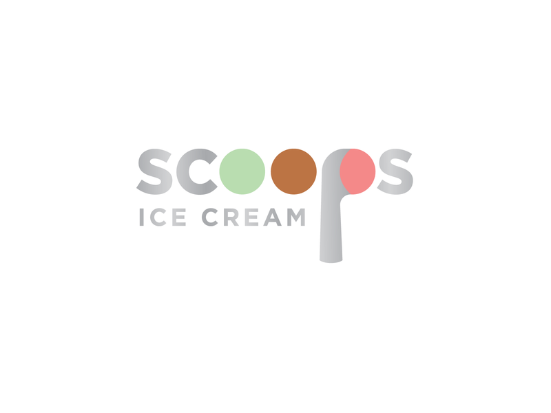 Who Doesn't Want a Few? mint strawberry chocolate metal design logo scoop scoops ice cream