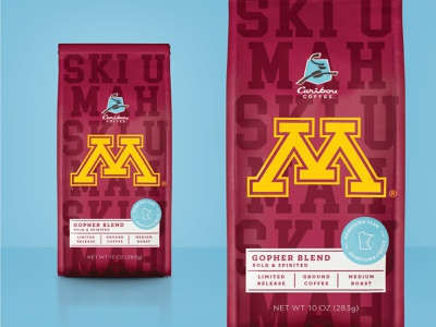 For the Bold & Spirited branding design packaging offer time limited lto blend gopher coffee caribou
