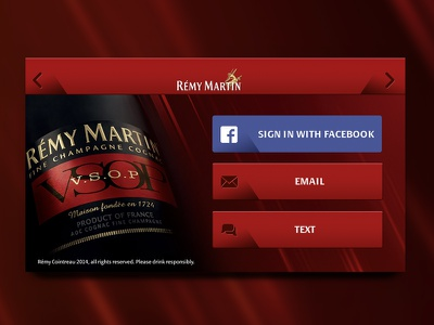 Remy Martin - App Design  remy martin remy alcohol spirit vsop app iphone iphone 5