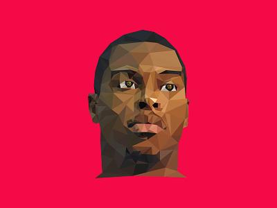 Kyle Lowry - Polygon red polygon kyle lowry lowry kyle nba basketball raptors toronto raptors sports