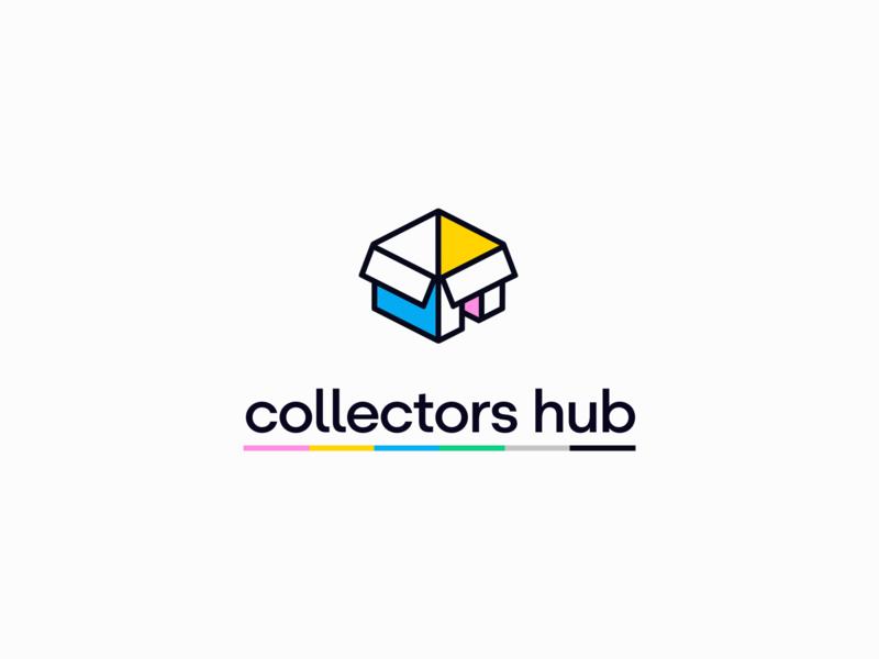 Collectors Hub blockchain web app icon branding design ethereum dapp crypto logo digital art gallery