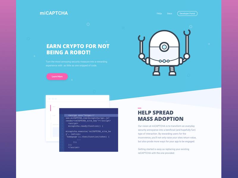 MiCAPTCHA captcha blockchain crypto ui robot fun