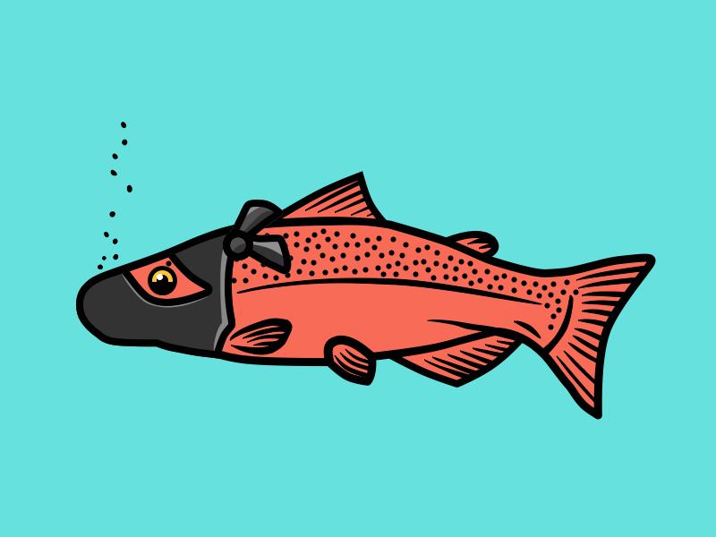 Ninja Salmon vector illustration design