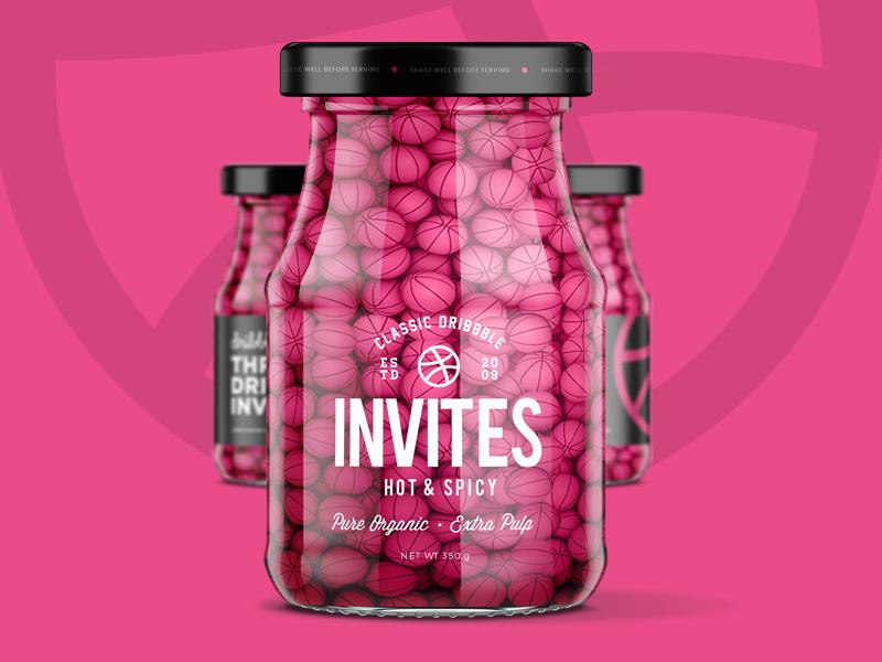 Dribbble invites jar