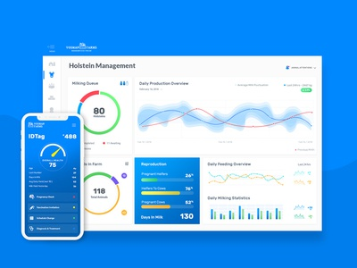 Bovine Management Dashboard analytics uiux ux ui stats reporting cows graphs dashboard