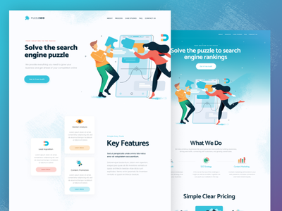 Landing Page UI kit landingpage homepage website webdesign ui