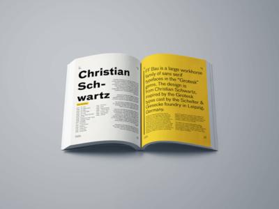FF Bau Type Specimen Book Design - Pages