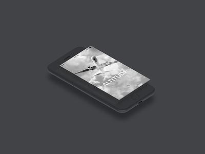 Altitude Splash Screen Design mockup airline altitude splash screen app design