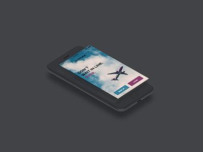 Altitude App Welcome Screen Design mockup airline altitude splash screen app design
