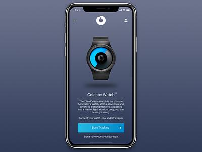 Ziiiro Celeste App Concept sleek clean tracker watch minimal design ux ui