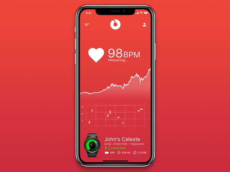 Ziiiro Celeste Heart Rate Tracker rate heart sleek clean tracker watch minimal design ux ui
