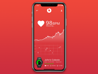Ziiiro Celeste Heart Rate Tracker rate heart sleek clean tracker watch minimal design ux ui