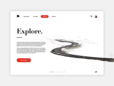 Explore - Minimal Website Design