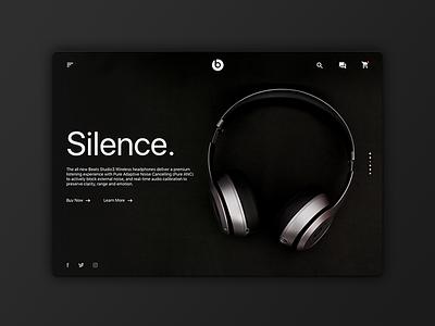 Beats Home Redesign redesign headphones dark beats minimal website design ux ui