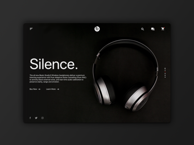 Beats Home Redesign redesign headphones dark beats minimal website design ux ui