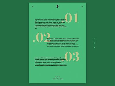 Text Based Portfolio Experiment - Landing Page ux ui overlay clean minimal experiment text portfolio website