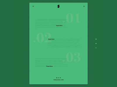 Text Based Portfolio Experiment - Menu Interaction ux ui overlay clean minimal experiment text portfolio website
