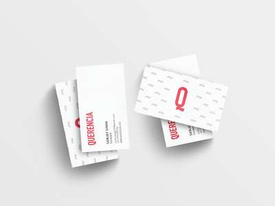 Querencia Business Cards minimal identity branding business cards querencia
