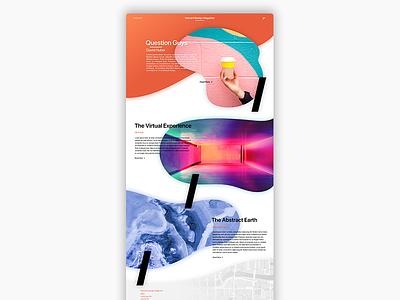 Blobs and Websites — An Exploration exploration clean gradient minimal magazine harvard blobs design web