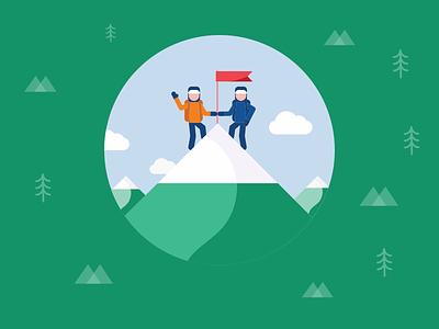 Mountaineers climb snow mountain trek trekking camping hiking hero justgiving