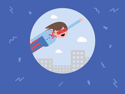 Superhero pictogram icon happy flying superman mask hero justgiving