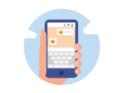 WhatsApp Pictogram hand keyboard clouds iphone emoji illustration mobile pictogram whatsapp