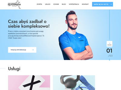 👟 Physiotherapist website pastel physiotherapist physiotherapy web ui design