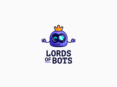 ⚡🤖👑 Chatbot Logo chatbot illustration icon branding logo
