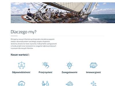 Finance Services Landing Page 💰💳💵 sea web elegant marina yacht ui design finance