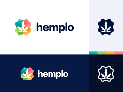 hemplo 🌿 CBD Comparison Site Logo branding comparsion hemp vector logo design