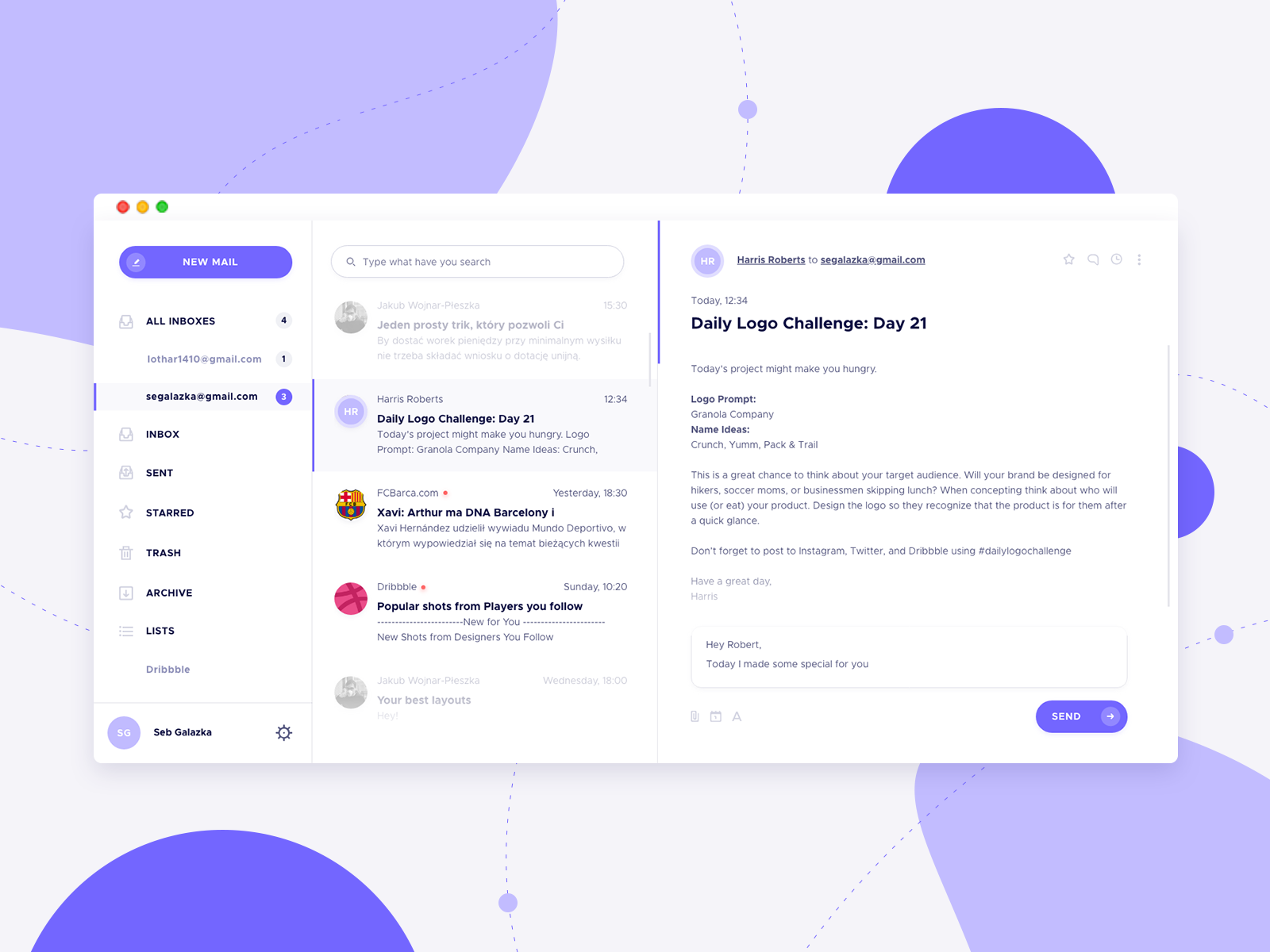Pigeon mail dribbble