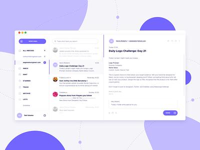 Mail Client App app design ux ui