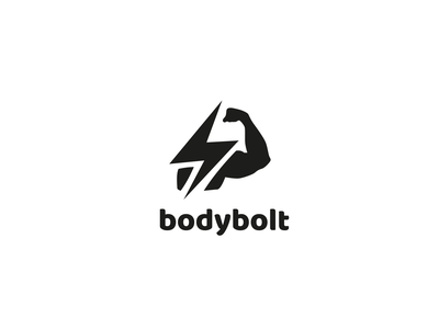 bodybolt logo 💪 icon vector branding illustration logo