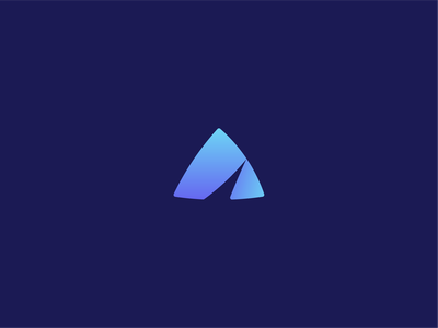 A Letter Logo Exploration vector illustration icon branding logo