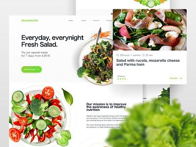 Saladmaster Landing Page healthy salad landing page landing web ui design