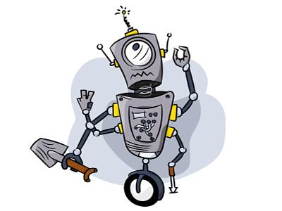 Robot Illustration robot drawing illustartor design character design vector illustration