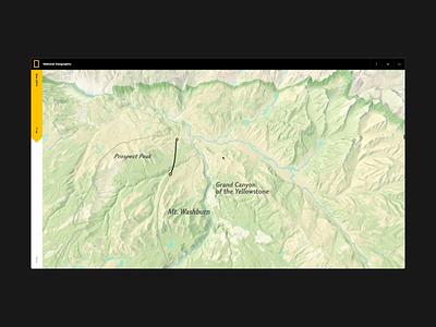 Bear's Eye View of Yellowstone - Journey animation nature nationalgeographic natgeo yellowstone design ui webdesign hello monday web uiux