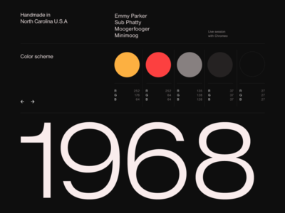 Moog styleframes black typography ux ui design web webdesign hello monday uiux